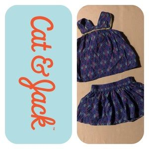 Cat & Jack tank top & skirt outfit Girls 2T